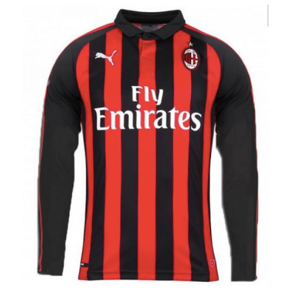 AC Milan | Home Kit 18/19 | Long Sleeves