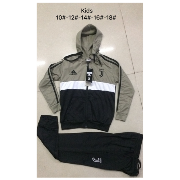 Juventus | Kids Khaki Hoodies Jacket + Pants 18/19