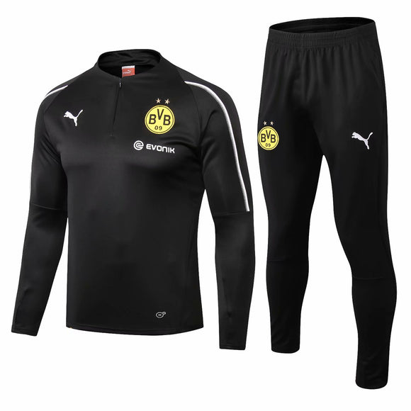 Dortmund | Black High Collar Training Top + Pants 18/19