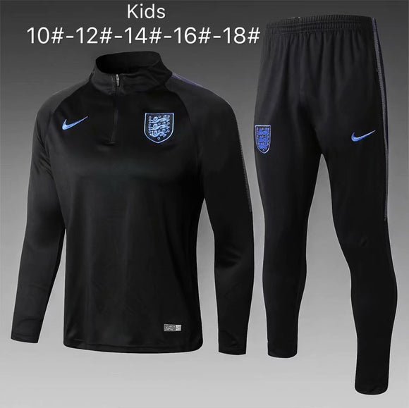 England | Black Type A  Kids Training Top + Pants 18/19