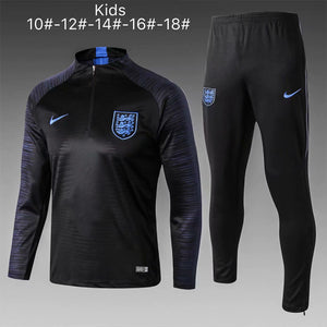England | Black Type B Kids Training Top + Pants 18/19