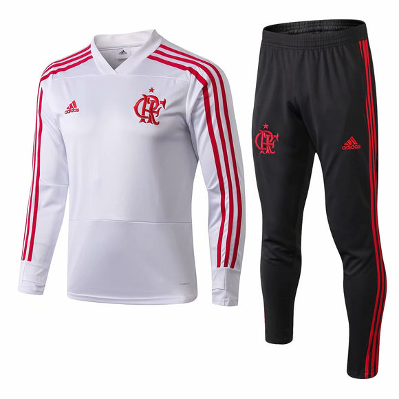 Flamengo White Training Top + Pants 18/19