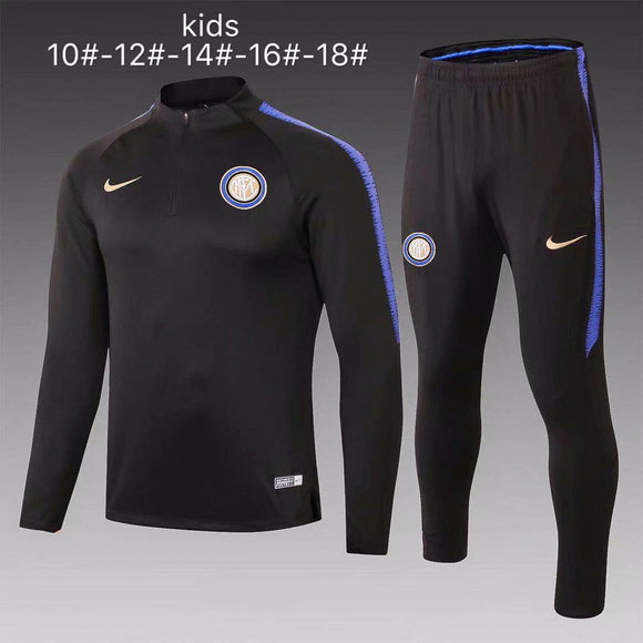 Inter Milan | Black Kids Training Top + Pants 18/19