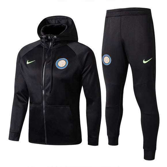 Inter Milan | Black Hoodie Jacket + Pants Training Suit 17/18
