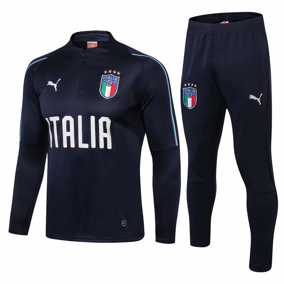 Italia  | Dark Blue Training Top + Pants 18/19