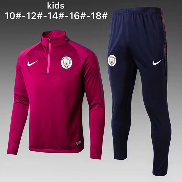 Man City | Purple Kids Training Top + Pants 17/18