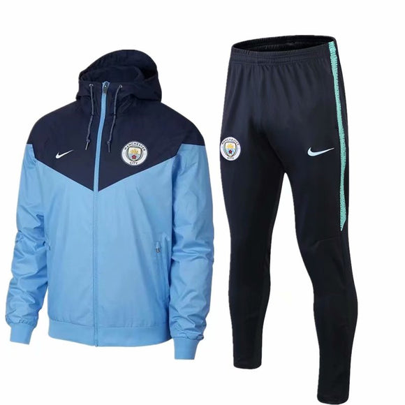 Man City | Type B Windbreaker Jacket + Pants Training Suit 18/19