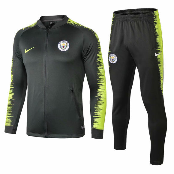 Man City | Dark Green Type B Training Tracksuit 18/19