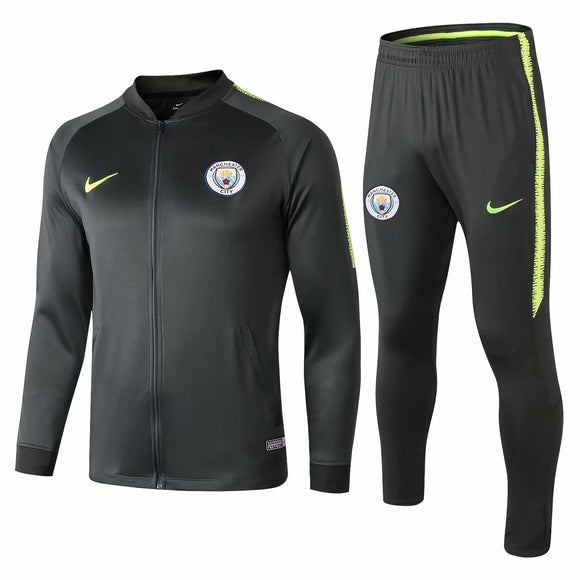 Man City | Dark Green Type A Training Tracksuit 18/19