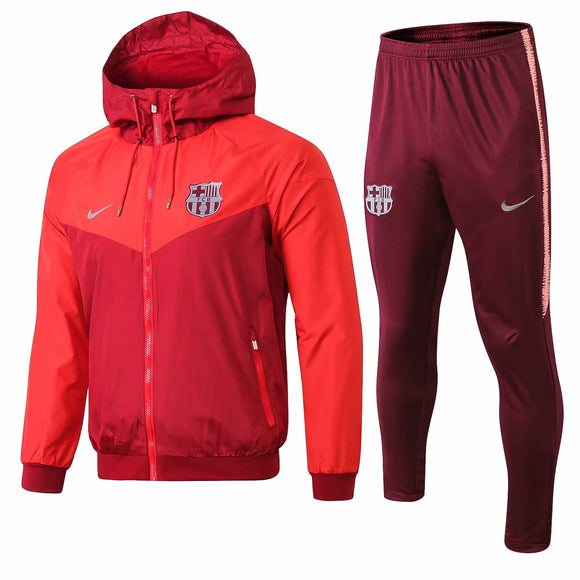 Barcelona | Red Windbreaker Jacket + Pants Training Suit 18/19