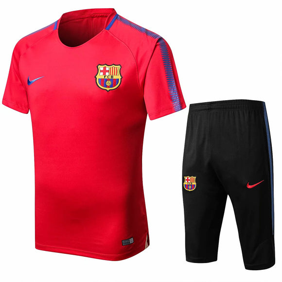 Barcelona | Red Short Training Suit 17/18
