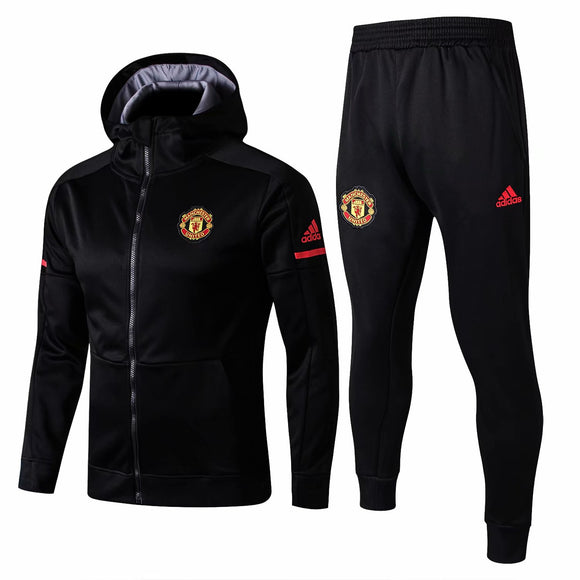 Man Utd | Black Hoodie Jacket + Pants Training Suit 17/18