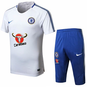 Chelsea | White Short Training Suit 17/18