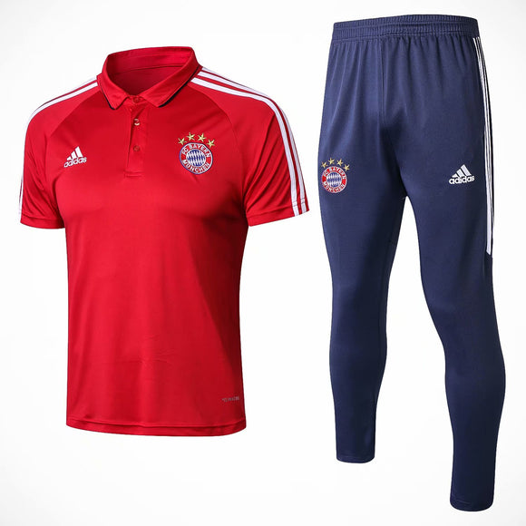 Bayern | Red Polo + Pants Training Suit 17/18