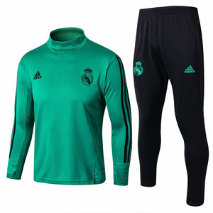 Real Madrid | Green Hight Collar Training Top + Pants 17/18