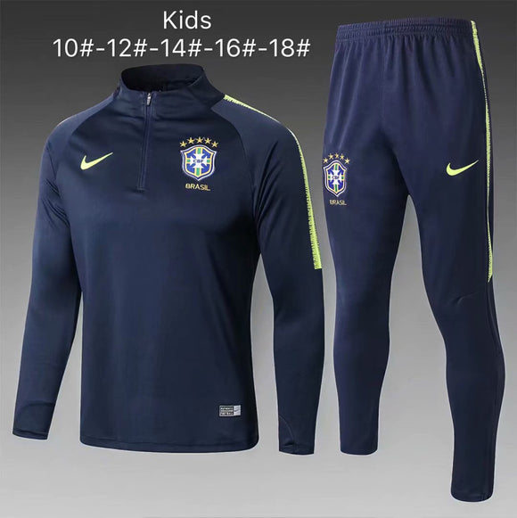 Brazil | Blue Type A | Kids Training Top + Pants 18/19