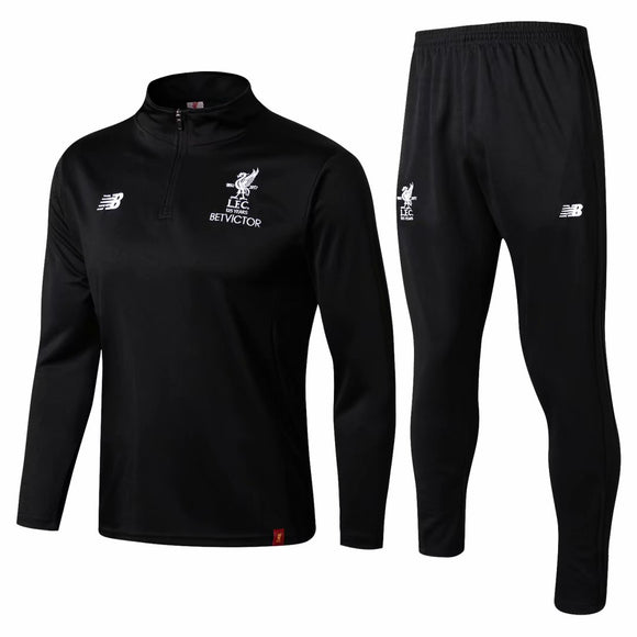Liverpool | Black Training Top + Pants 17/18