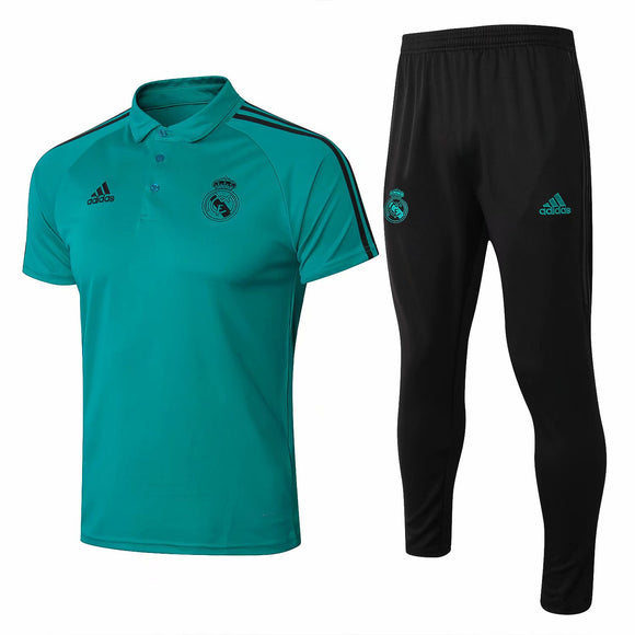 Real Madrid | Green Polo + Pants Training Suit 17/18