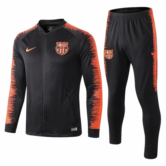 Barcelona | Black Training Tracksuit 18/19