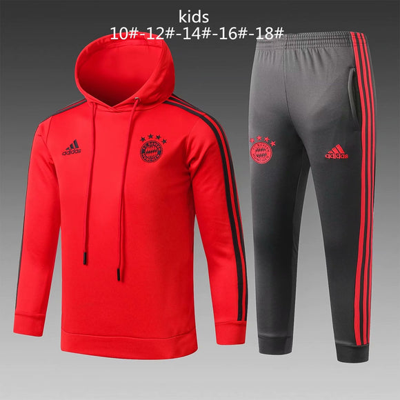 Bayern | Kids Red Hoodies Sweater + Pants 18/19