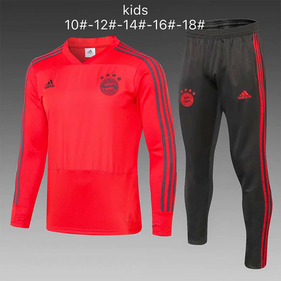 Bayern | Red Kids Training Top + Pants 18/19