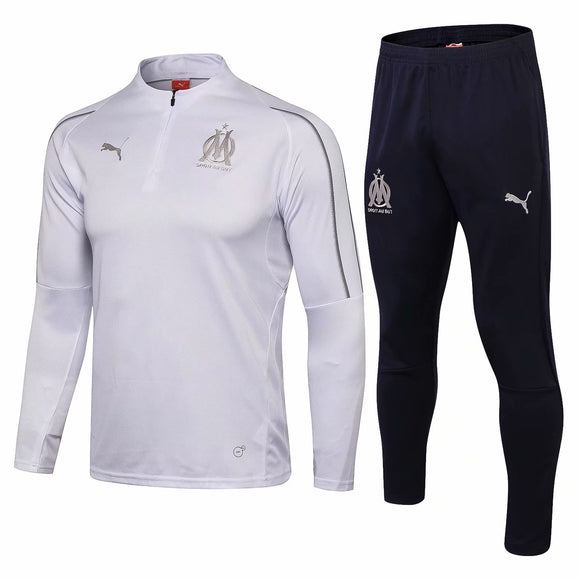 Marseille | White Training Top + Pants 18/19