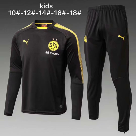 Dortmund | Black Kids Training Top + Pants 17/18