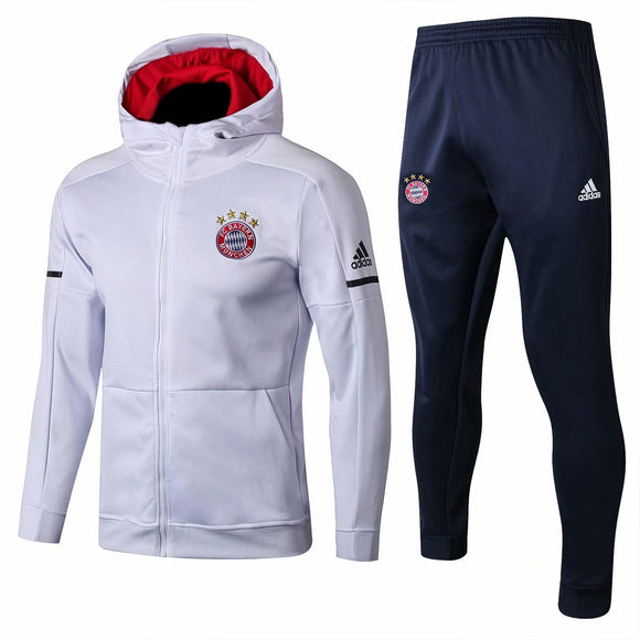 Bayern | White Hoodie Jacket + Pants Training Suit 17/18