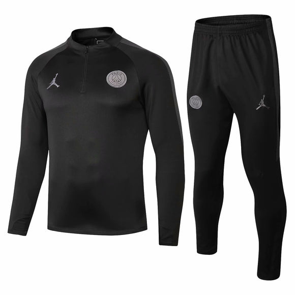 PSG | Jordan Black Training Top Half Zip + Pants 18/19