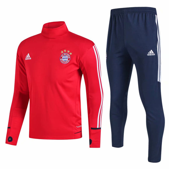 Bayern | Red - High Collar Training Top + Pants 17/18