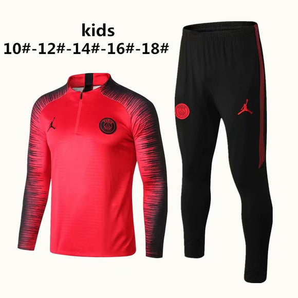 PSG | Jordan Red Type B Kids Training Top + Pants 18/19