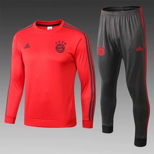 Bayern | Red Round Collar Training Top + Pants 18/19