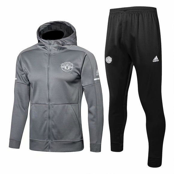 Man Utd | Grey Hoodie Jacket + Pants Training Suit 17/18