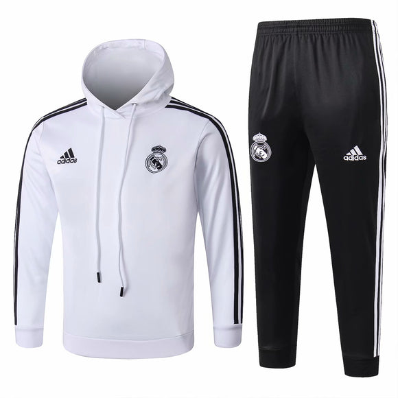 Real Madrid | Kids White Hoodies Sweater + Pants 18/19