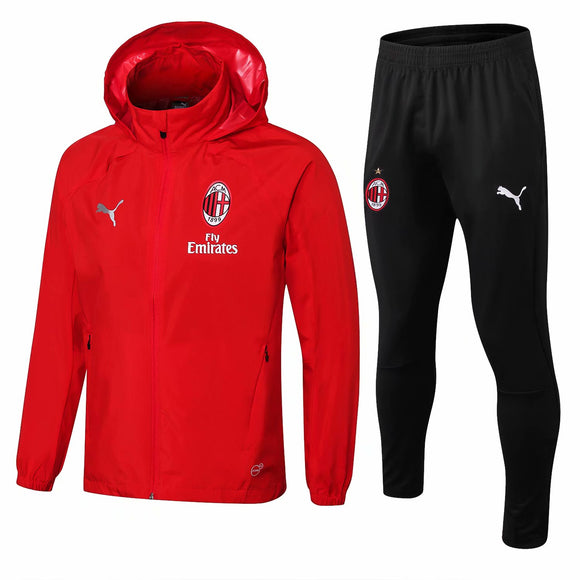 AC Milan | Red Windbreaker Jacket + Pants Training Suit 18/19