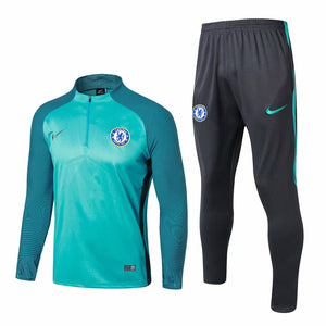 Chelsea | Green Training Top + Pants 17/18