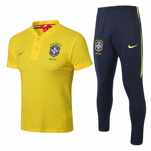 Brazil | Yellow Top + Pants Training Suit 18/19