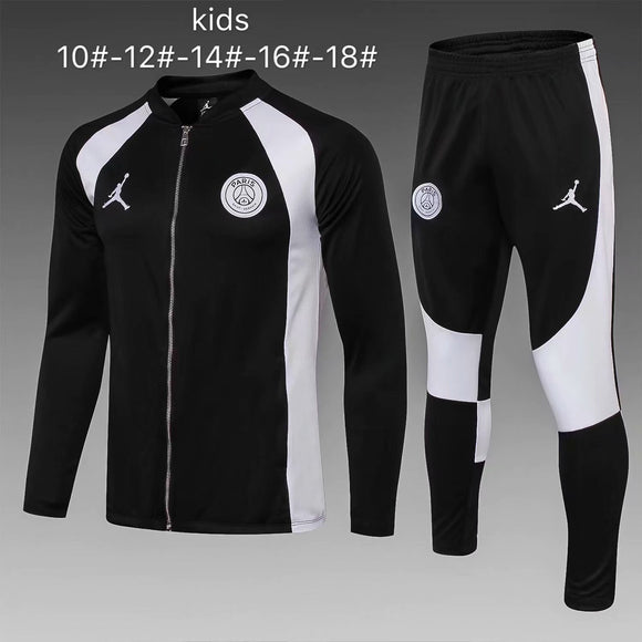 PSG | Jordans Black and White | Kids Training Tracksuit 18/19