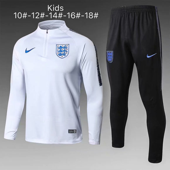 England | White Kids Training Top + Pants 18/19