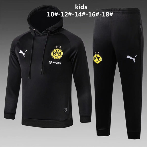 Dortmund | Kids Black Hoodies Sweater + Pants 18/19