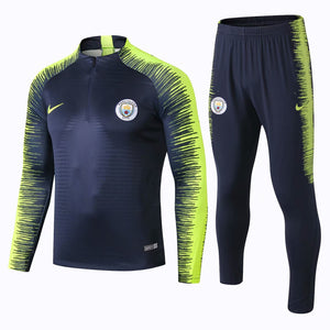Man City| Dark Blue Type B Training Top + Pants 18/19