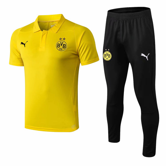 Dortmund | Yellow Polo + Pants Training Suit 18/19