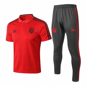 Bayern | Red Polo + Pants Training Suit 18/19