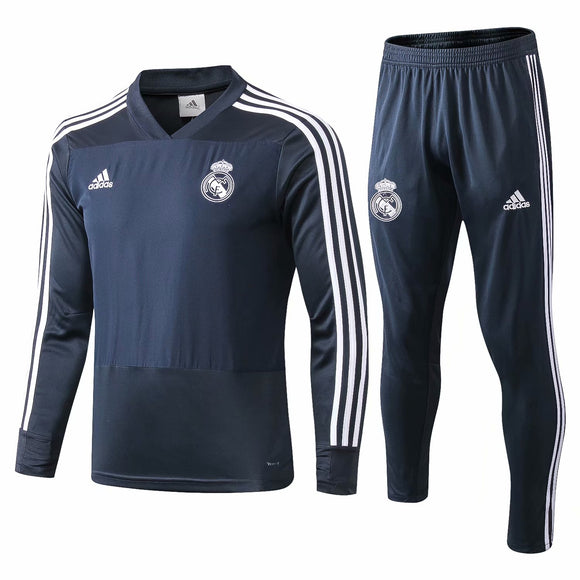 Real Madrid | Dark Grey Training Top + Pants 18/19
