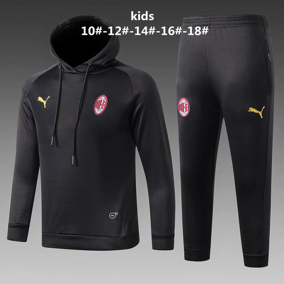 AC Milan | Kids Black Hoodies Sweater + Pants 18/19