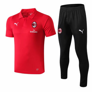 AC Milan | Red Polo + Pants Training Suit 18/19