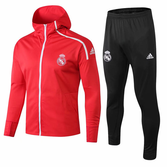 Real Madrid | Red Hoodie Jacket + Pants Training Suit 18/19