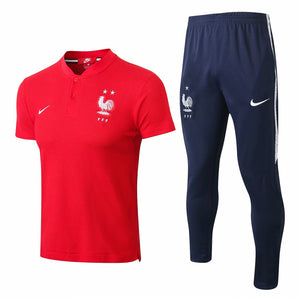 France | Red Polo + Pants Training Suit 18/19