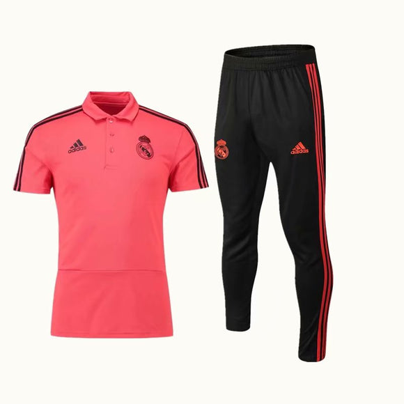 Real Madrid | Red Polo + Pants Training Suit 18/19