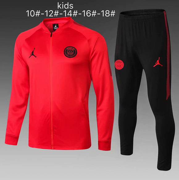 PSG | Jordan Red Type A | Kids Training Tracksuit 18/19